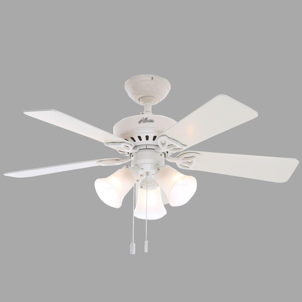 Hunter Beacon Hill 42 In Indoor White Ceiling Fan With
