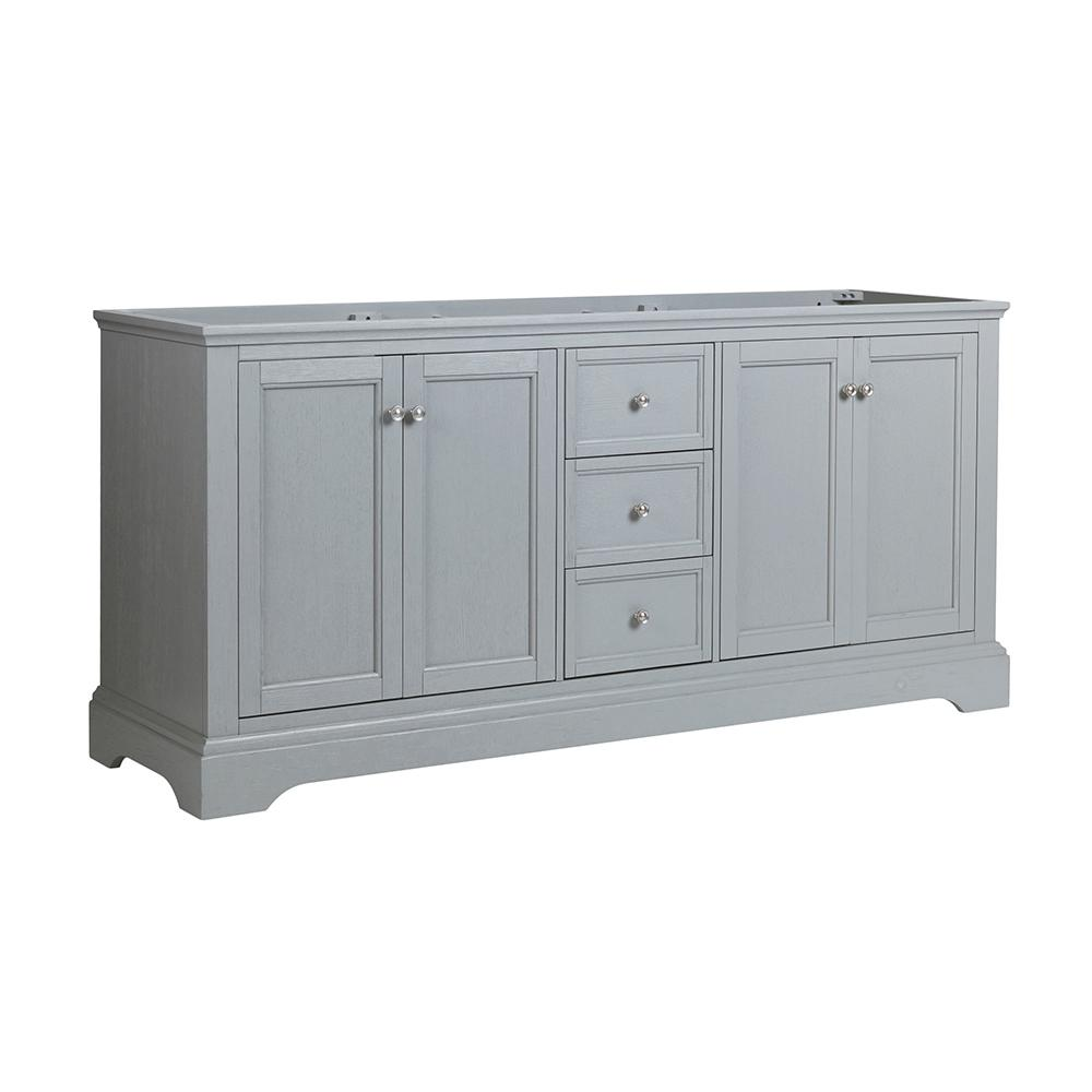Fresca Windsor 72 in. W Traditional Double Bath Vanity in Gray Textured