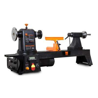 12 in. by 16 in. Variable Speed Multi-Directional Cast Iron Wood Lathe with 16 in. Capacity Bowl-Turning Back Plate