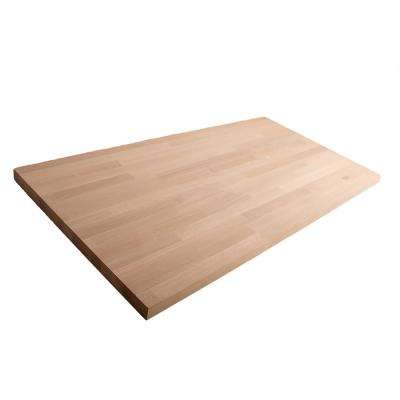 Unfinished White Oak 10 ft. L x 25 in. D x 1.5 in. T Butcher Block Countertop