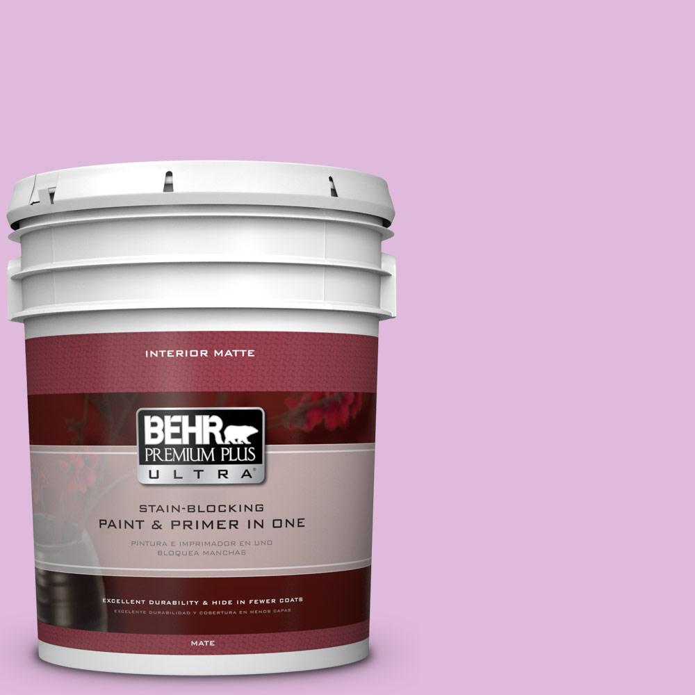 BEHR Premium Plus Ultra 5 gal. #670A-3 Posies Flat/Matte Interior Paint