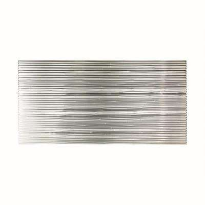 96 in. x 48 in. Bamboo Decorative Wall Panel in Brushed Aluminum