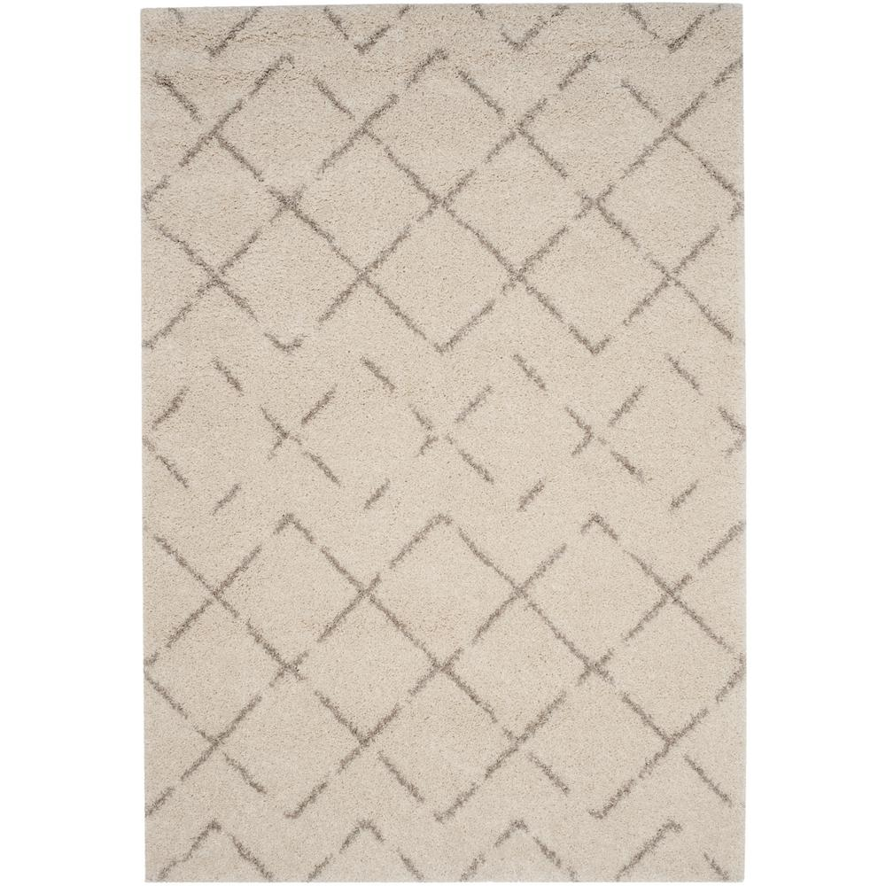 Safavieh Arizona Shag Ivory Beige 4 Ft X 6 Ft Area Rug