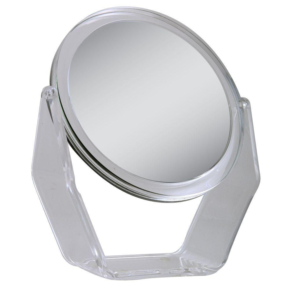 Zadro 8.5 in. x 7.25 in. 1X/7X Magnification Vanity Makeup Mirror in Acrylic