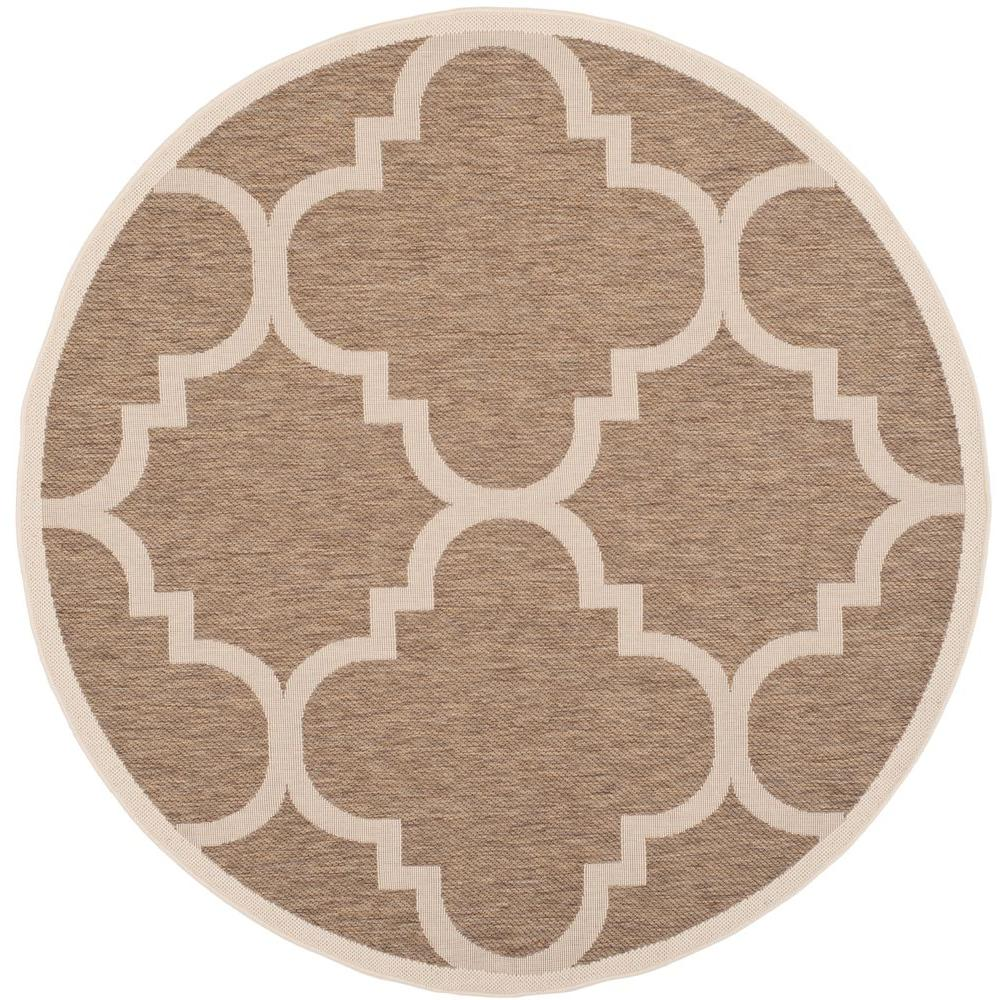 Courtyard Brown 5 ft. 3 in. x 5 ft. 3 in.