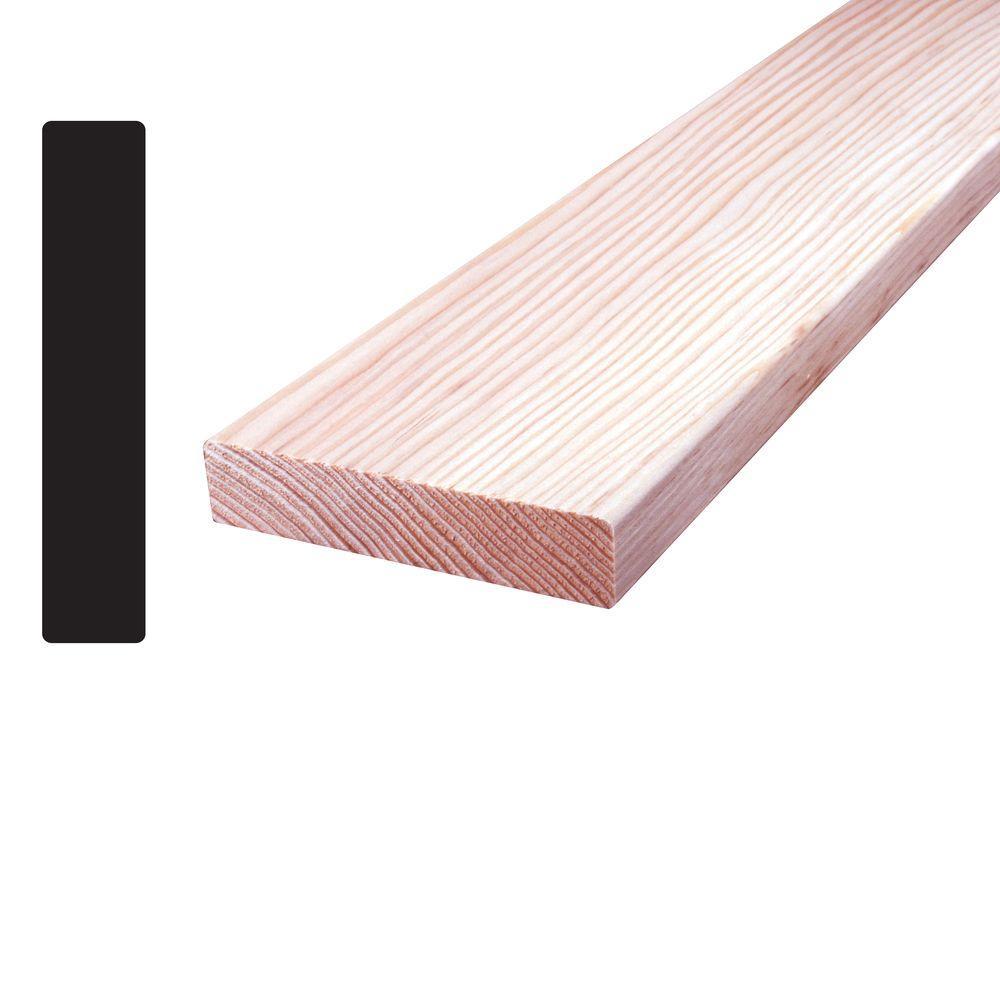 1 in  x 4 in  x 8 ft  Douglas Fir S4SE4E Mixed Grain Board