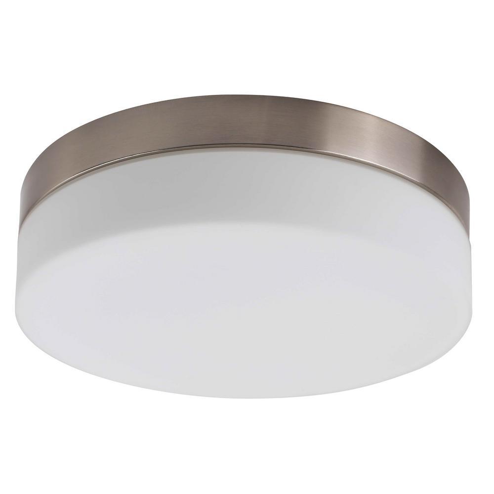 1 Light Brushed Nickel Flush Mount Ceiling Light Nbcl1001 7med The Home Depot