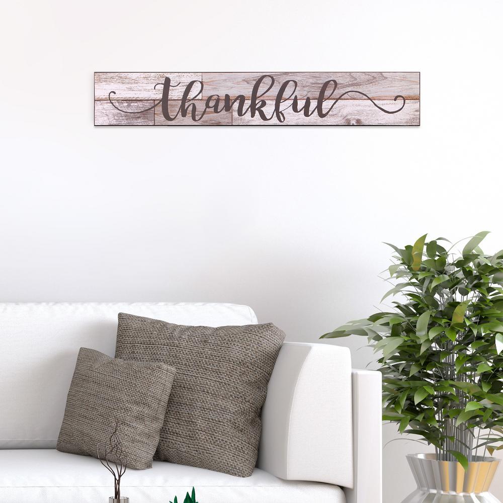 Thankful Rustic Wood Sign