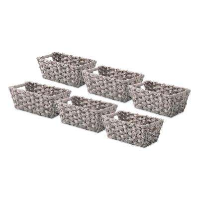 0.2 Gal. Gray Wash Storage Totes (Set of 6)