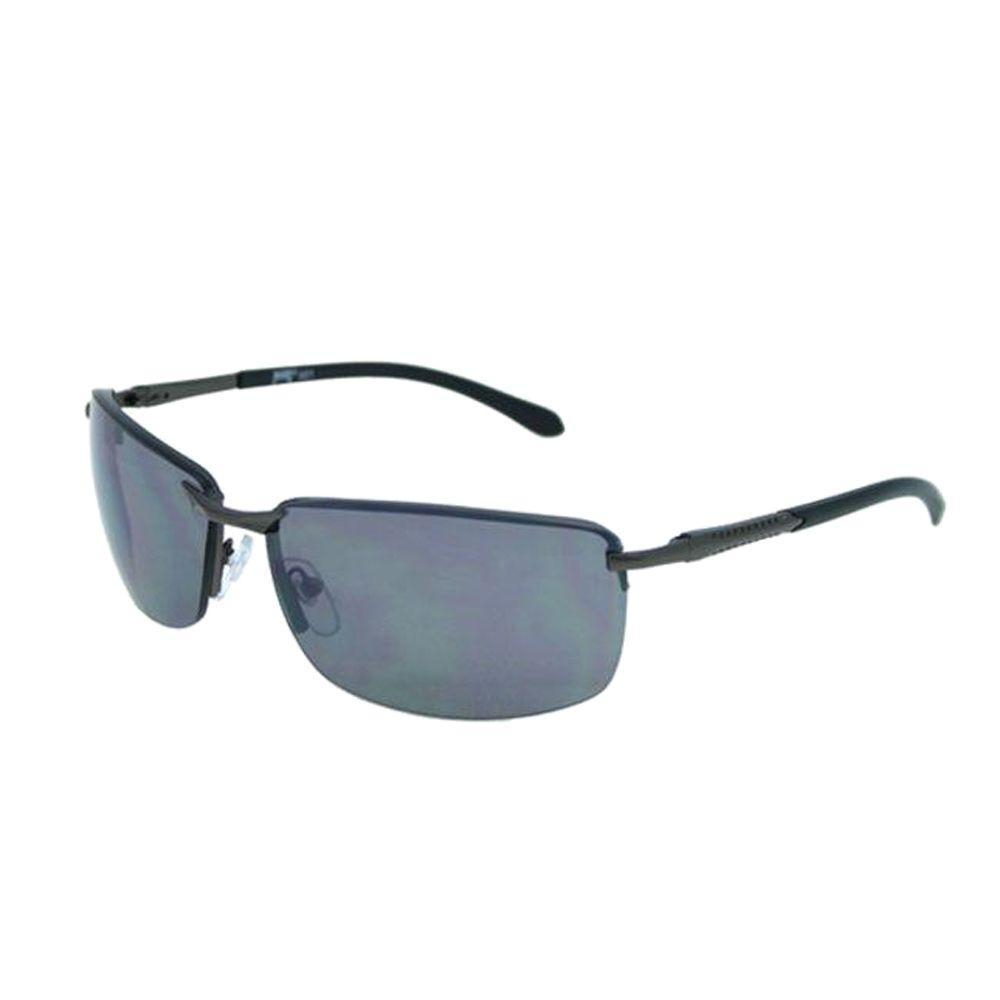 null Pugs Sunglasses Style #901 Shiny Gun Metal Frame, Shiny Black Temple