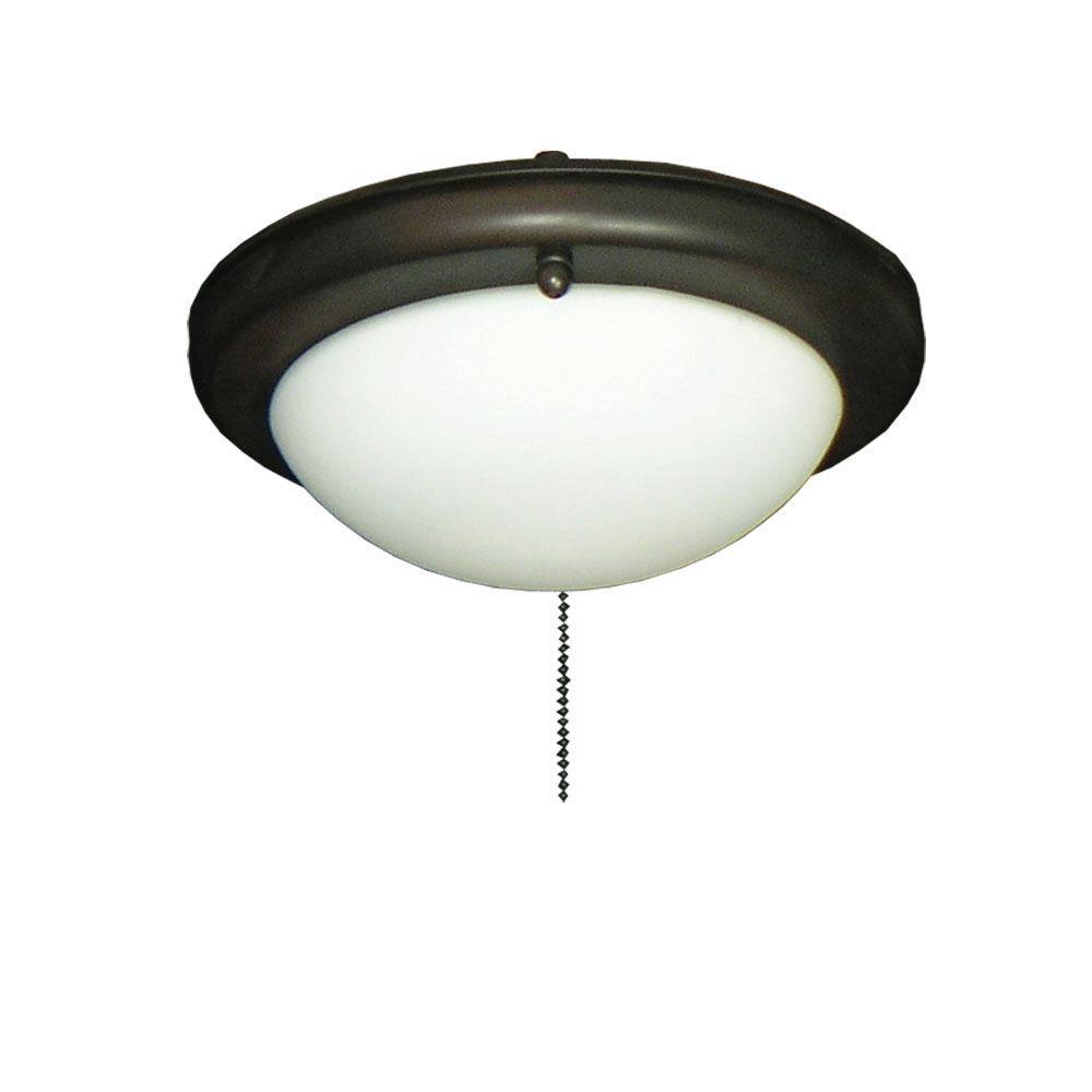 162 Low Profile Oil Rubbed Bronze Ceiling Fan Light