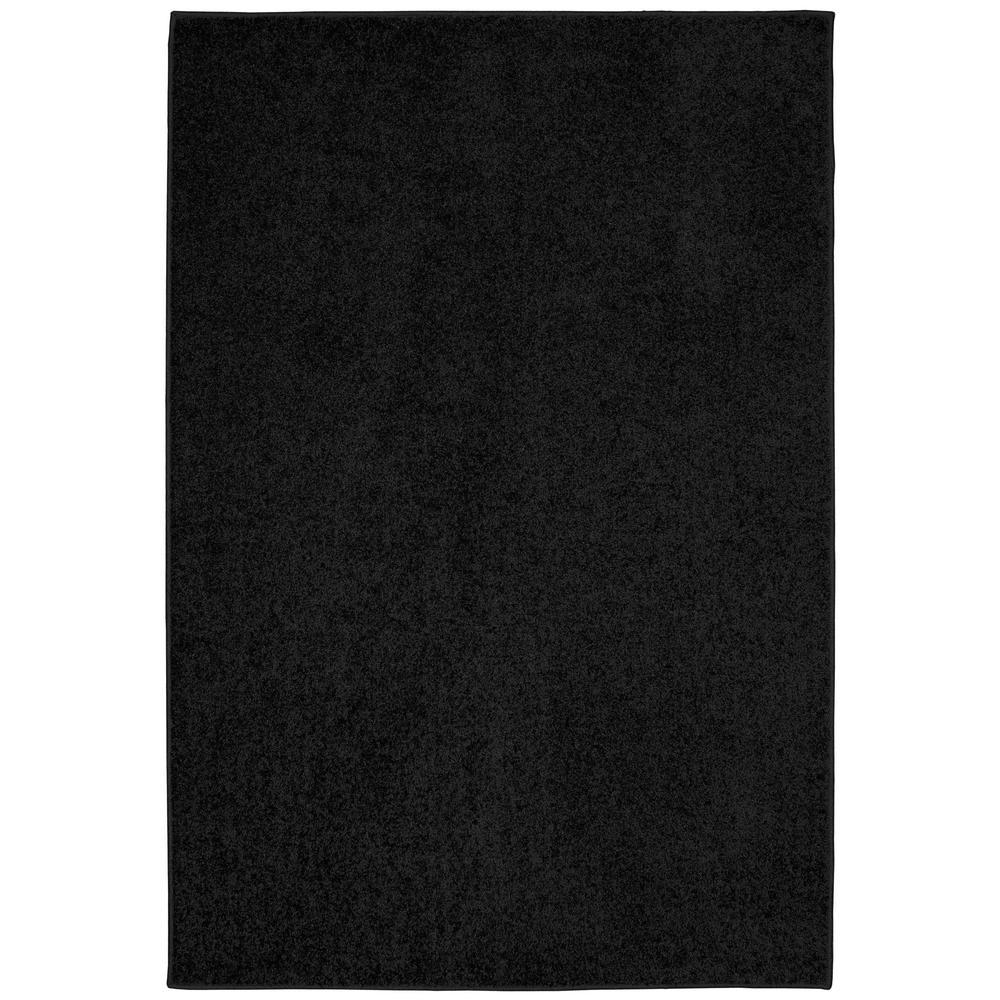 Garland Rug Clayton Plush Black 6 Ft X 9 Ft Area Rug