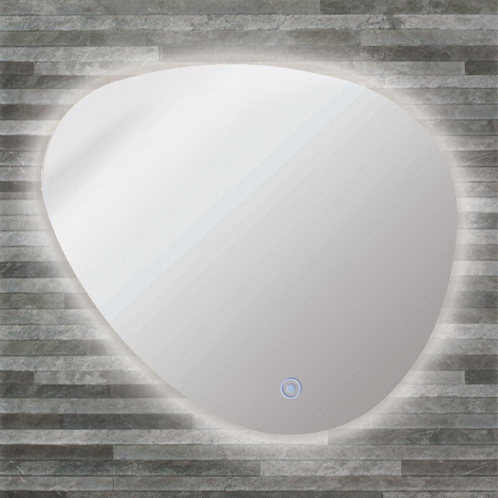 Harper 25.59 in. W x 23.23 in. H Frameless Cone LED Light Bathroom Vanity Mirror in Silver