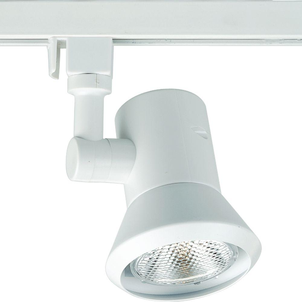 Alpha Trak 1-Light White Track Lighting Head