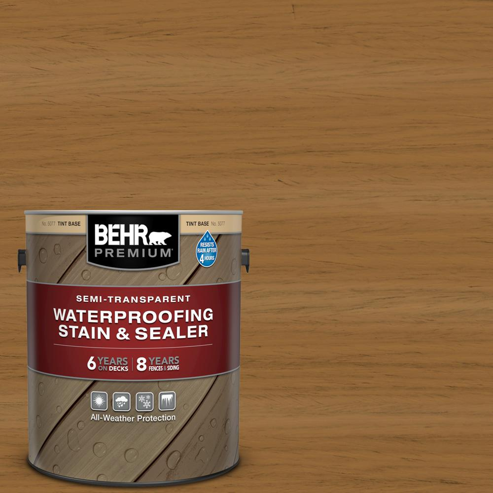 BEHR Premium 1 gal. #ST-146 Cedar Semi-Transparent Waterproofing Exterior Wood Stain and Sealer