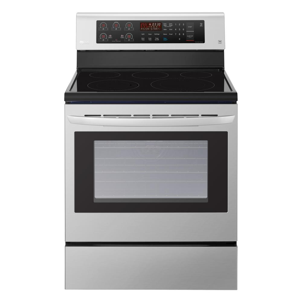 6.3 cu. ft. Electric Range with Convection Oven in Stainless Steel