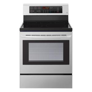 LG Electronics 6.3 cu. ft. Electric Range with Convection Oven in Stainless Steel by LG Electronics