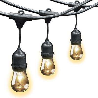 30 ft. 10-Socket Incandescent String Light Set (Case of 4)