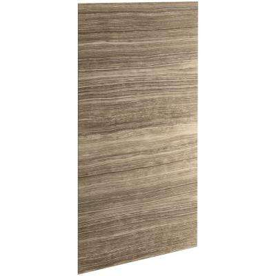 Choreograph 0.3125 in. x 48 in. x 96 in. 1-Piece Shower Wall Panel in VeinCut Sandbar for 96 in. Showers