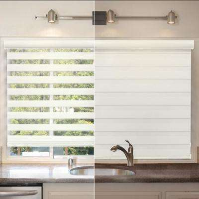 Light Filtering White 72 in. x 72 in. Cordless Sheer Shade
