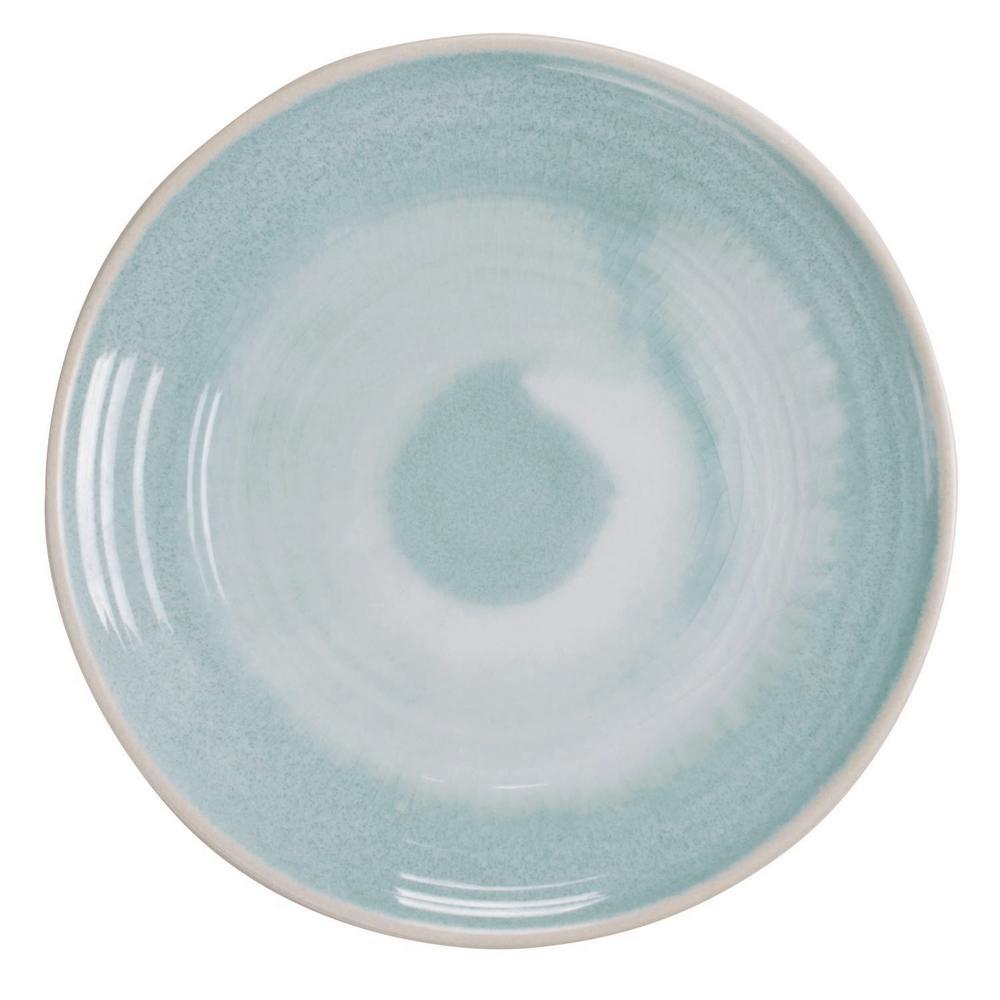 Raku Aqua Dinner Plate