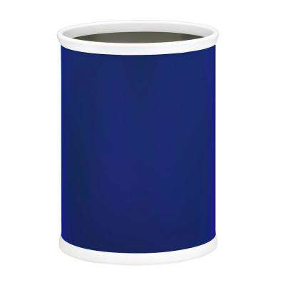 Bartenders Choice Fun Colors 13 qt. Royal Blue Oval Waste Basket