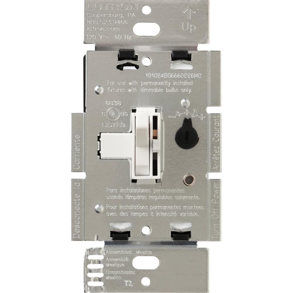 lutron toggler 600-watt single-pole magnetic low-voltage ... lutron dimmer 600 watt wiring diagrams to single pole dimmer lutron 3 way switch wiring diagram #7