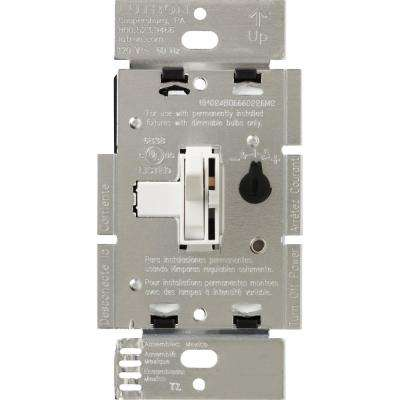 Toggler 600-Watt Single-Pole Magnetic Low-Voltage Dimmer, White