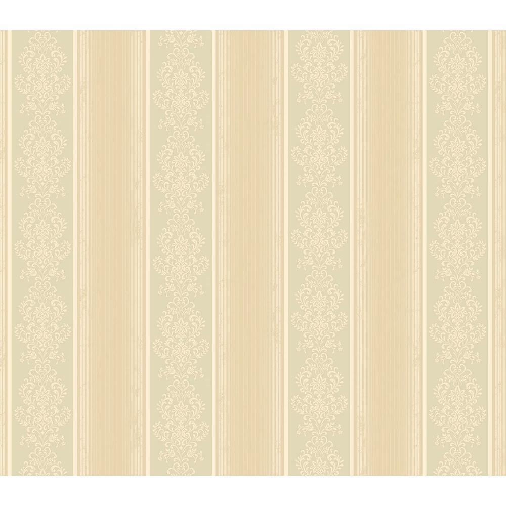 Chesapeake Eastport Beige Arabelle Stripe Wallpaper Sample SRC113011SAM