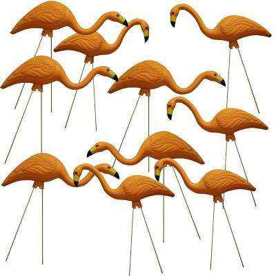 TEAMingos 26 in. Yellow Flamingo (10-Pack)