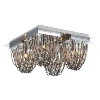 Isla 4-Light Chrome Flush Mount
