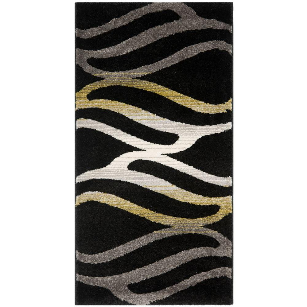 Porcello Black 2 ft. x 3 ft. 7 in. Area Rug