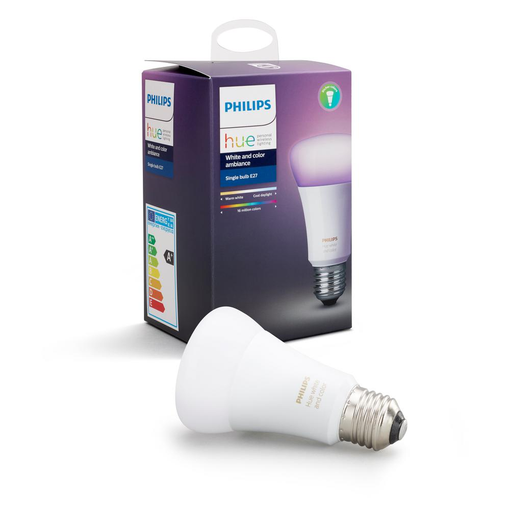 Philips Hue White And Color Ambiance A19 Led 60w Equivalent Dimmable Smart Wireless Light Bulb