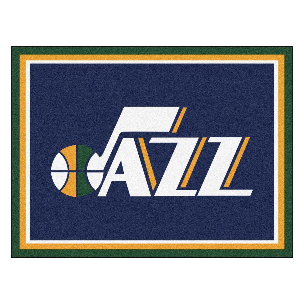 Fanmats Nba Utah Jazz Navy Blue 8 Ft X 10 Ft Indoor Area