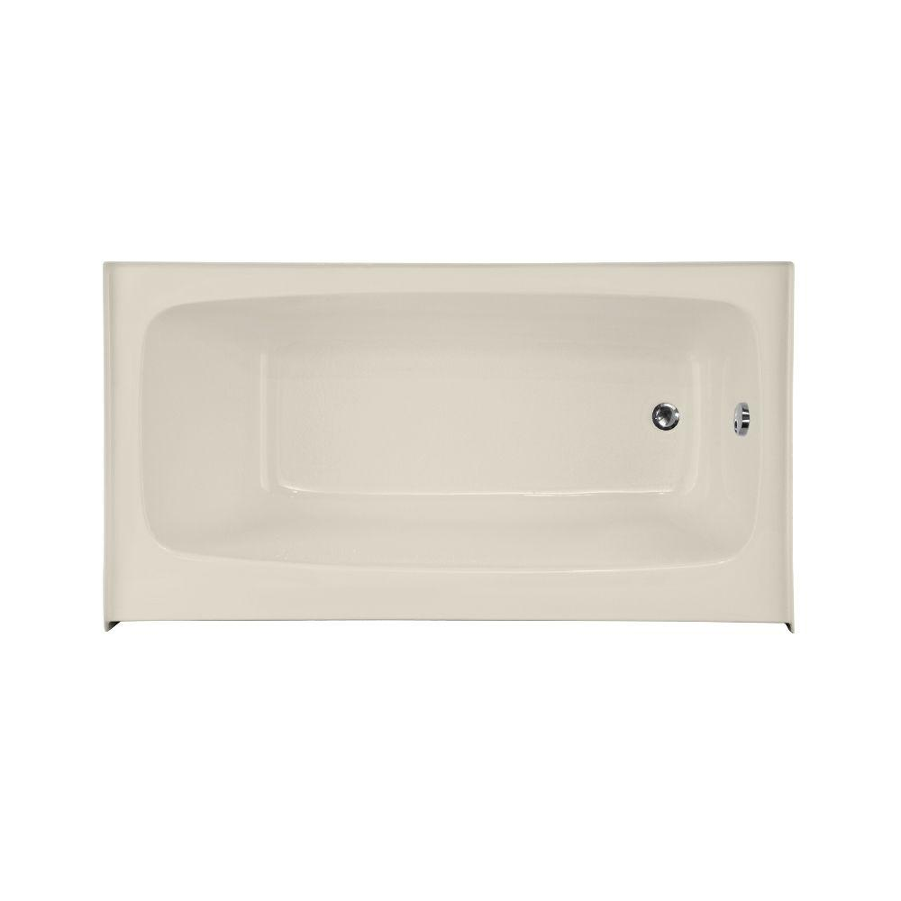 Hydro Systems Trenton 66 in. Rectangular Drop-in Right Hand Drain Whirlpool and Air Bath Tub in White