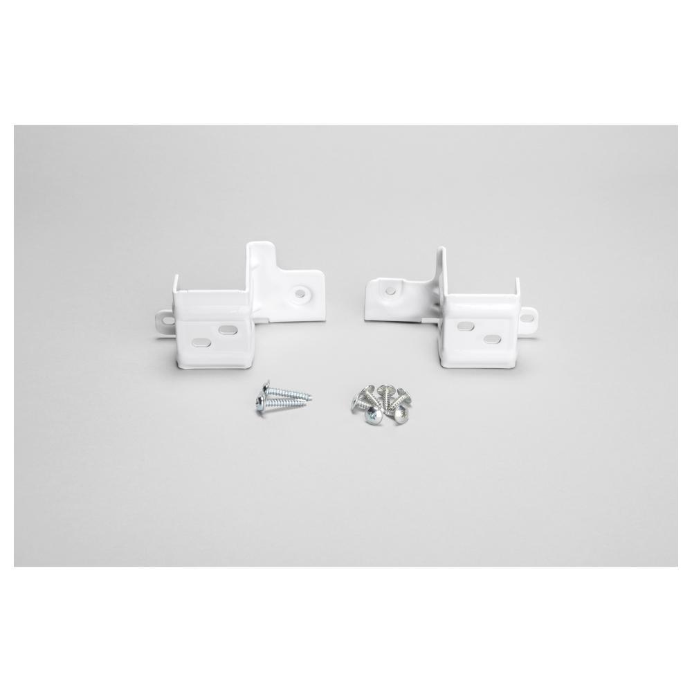 GE 24 in. Washer/Dryer Stack Bracket Kit The GE Stacking Kit for 24 in. Front-Load Washer and Dryer helps you maximize laundry space by stacking your dryer on top of the washer. It is appropriate for alcove or closet installation. Ensures proper installation for GE 24 in. front load laundry. Hardware is included.