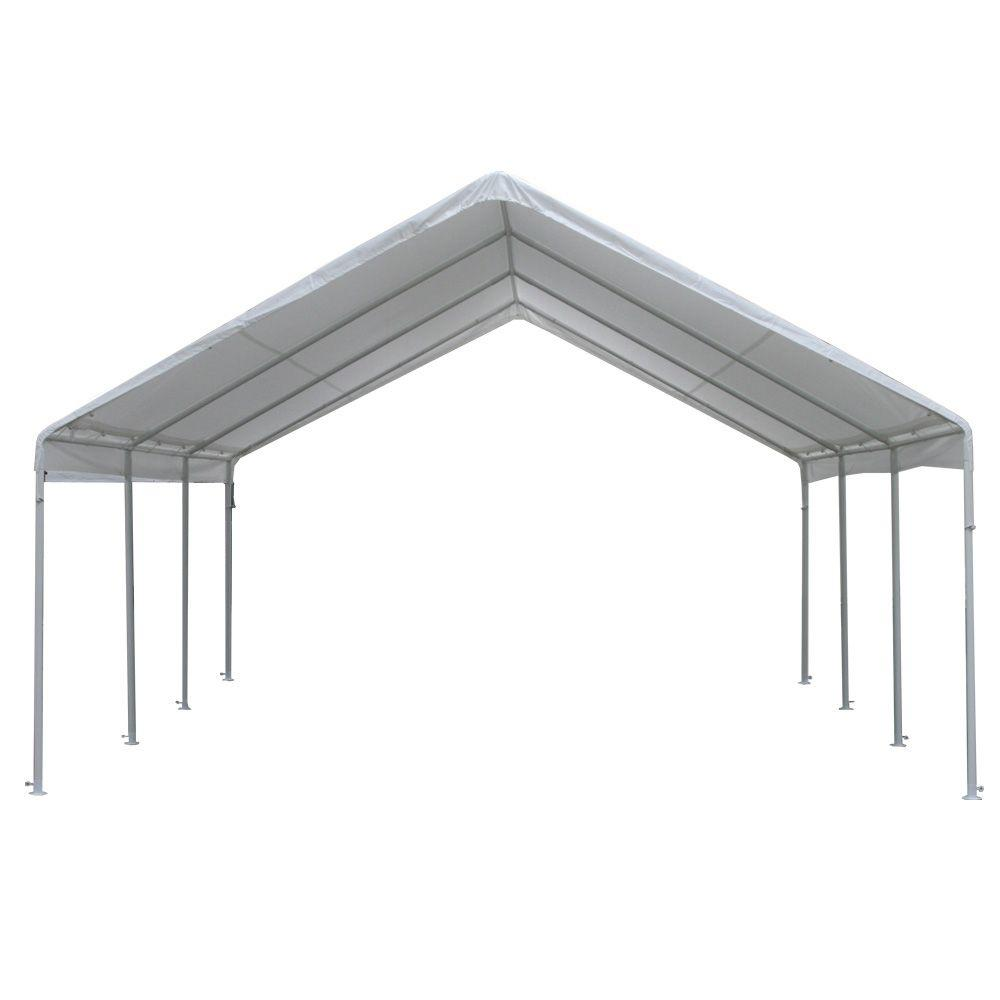 D Steel Frame Canopy  sc 1 st  The Home Depot & Portable Garages u0026 Car Canopies - Carports u0026 Garages - The Home Depot