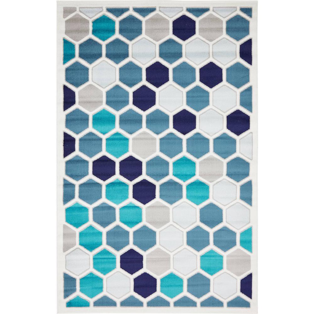 Metro Honeycomb Ivory 5' 0 x 8' 0 Area Rug