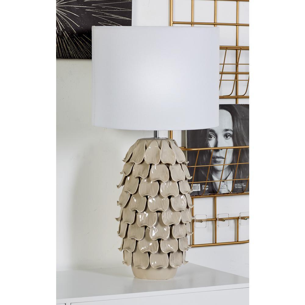 Litton lane 28 in brown pineapple design ceramic table lamp 60789 brown pineapple design ceramic table lamp aloadofball Choice Image