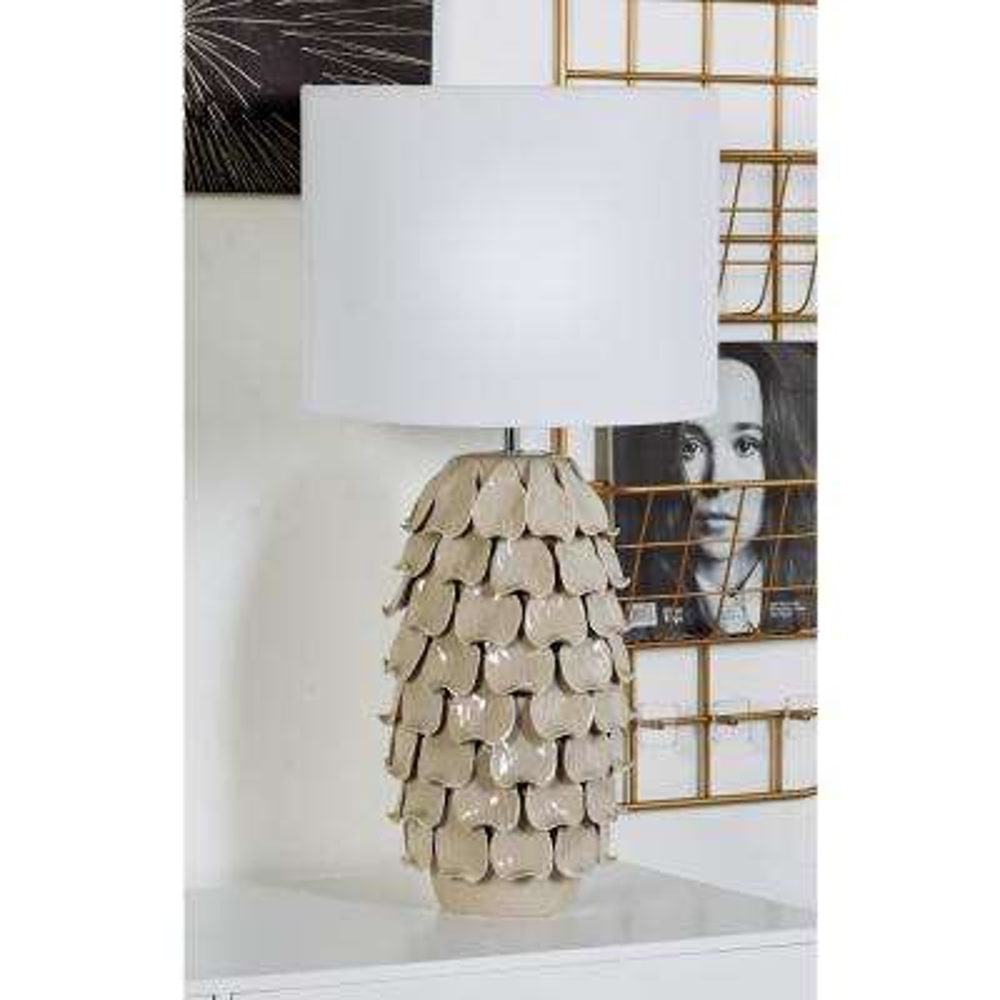 28 in. Brown Pineapple Design Ceramic Table Lamp