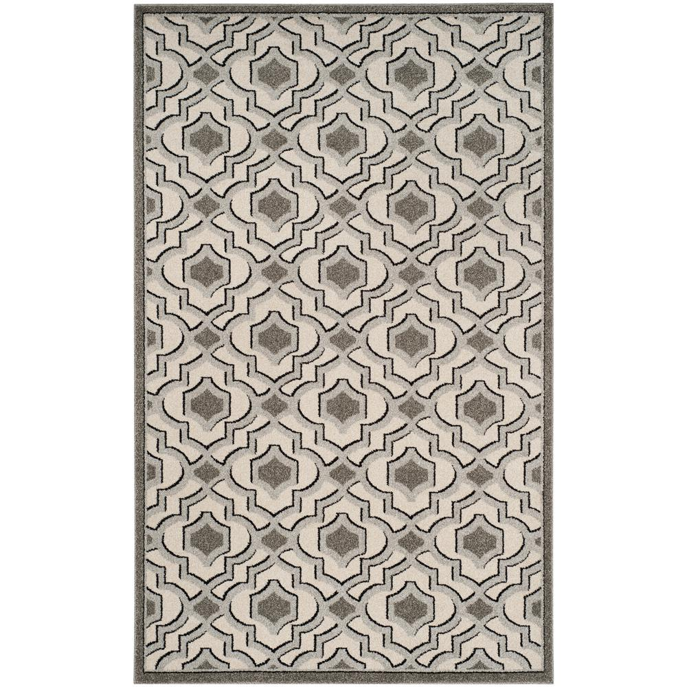 Amherst Ivory/Gray 6 ft. x 9 ft. Indoor/Outdoor Area Rug