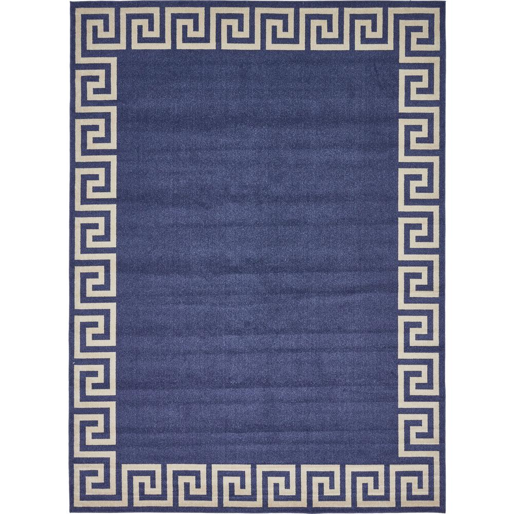 Unique Loom Athens Navy Blue 10 X 13 Rug 3135728 The