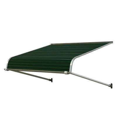 8 ft. 1100 Series Door Canopy Aluminum Awning (21 in. H x 60 in. D) in Evergreen