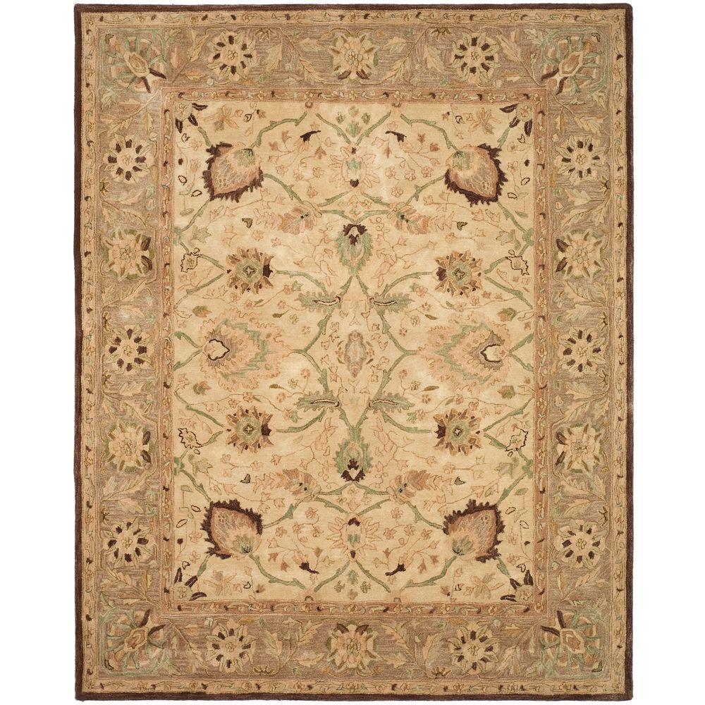 Anatolia Ivory/Brown 8 ft. x 10 ft. Area Rug