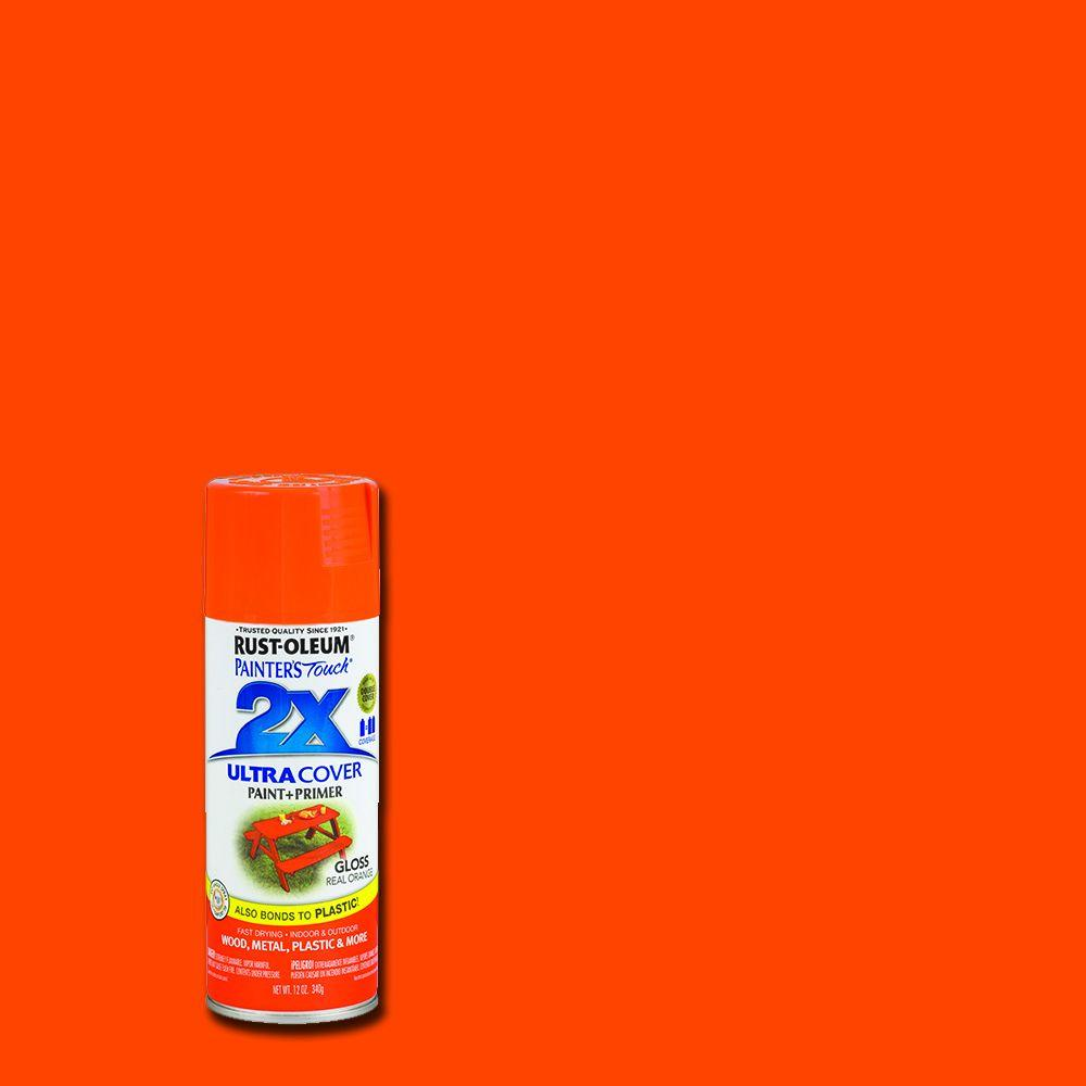 Rust Oleum Painter S Touch 2x 12 Oz Gloss Real Orange