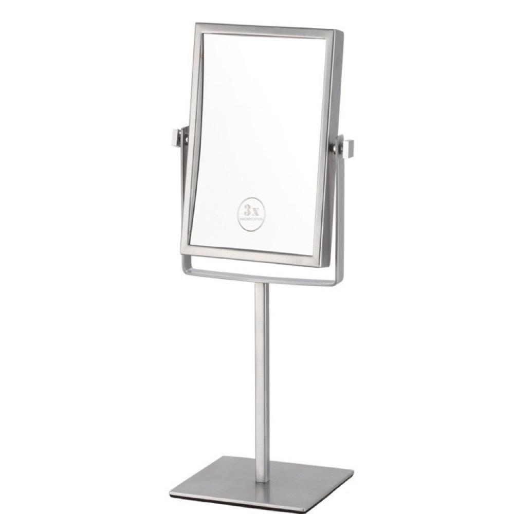 Nameeks Glimmer 6.3 in. x 8.5 in. Free Standing LED 3x Rectangle Makeup Mirror in Chrome