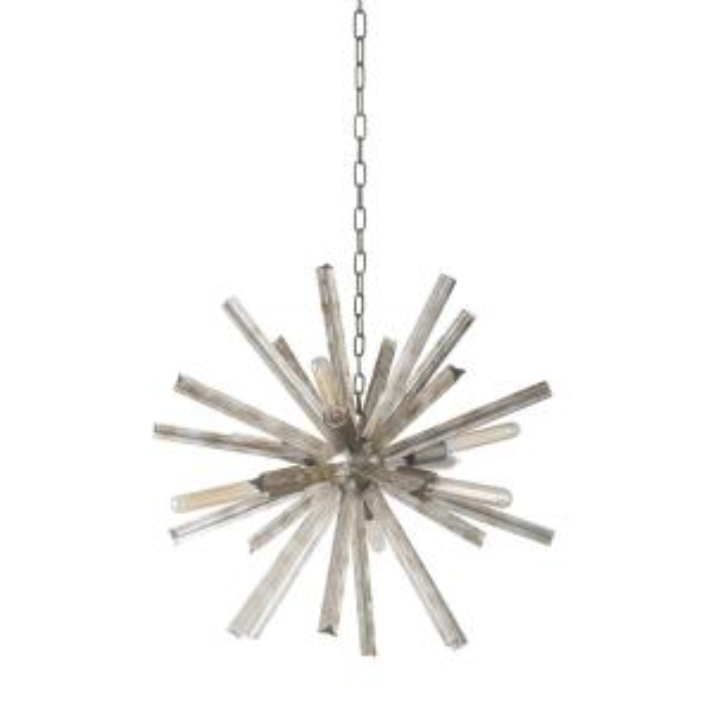 6-Light Antique Iron Sputnik Crystal Chandelier