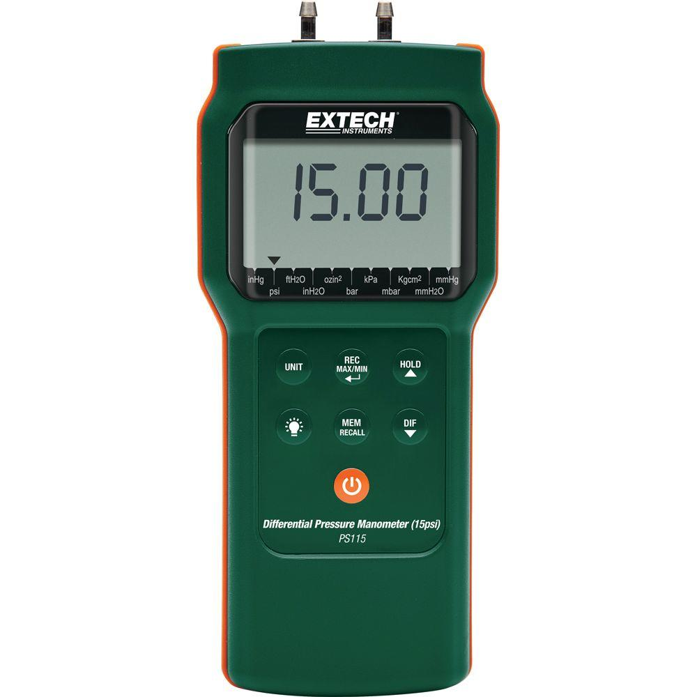 Extech Instruments 15 Psi Differential Pressure Manometer