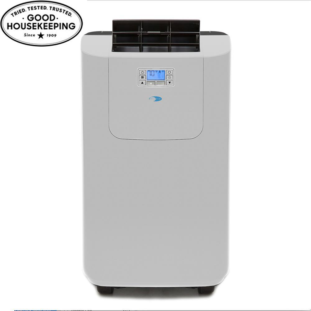 Elite 12,000 BTU Dual Hose Digital Portable Air Conditioner with Dehumidifier