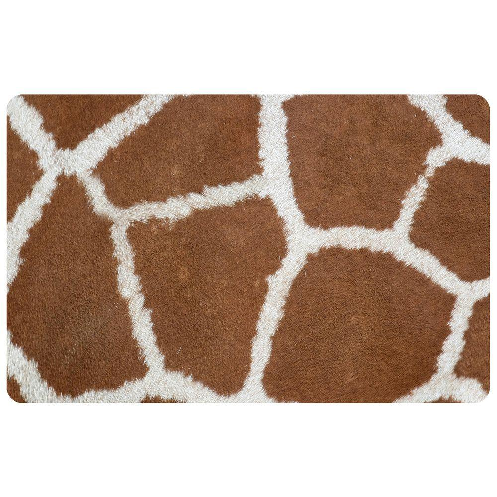 Bungalow Flooring Multi Color 18 In. X 27 In. Neoprene Giraffe Door  Mat 20468401827   The Home Depot